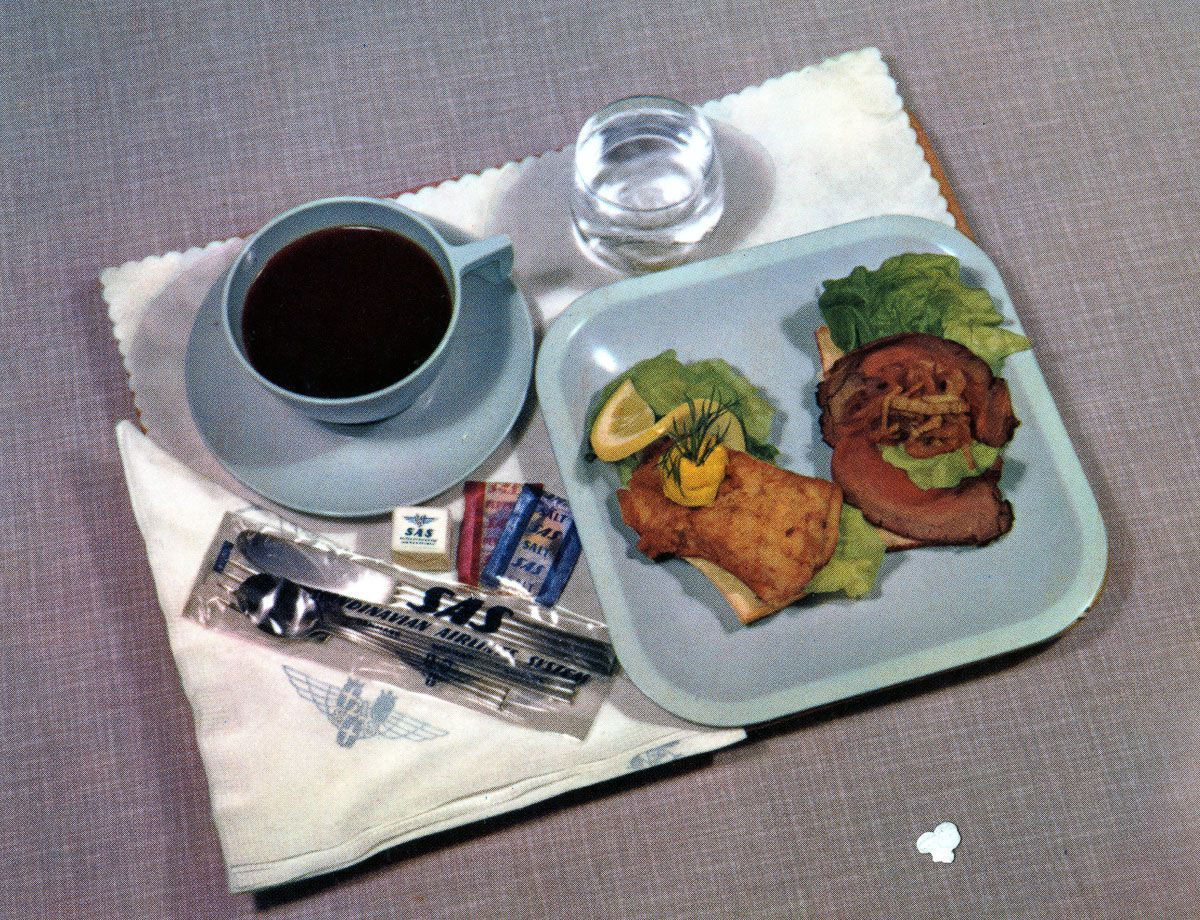 Scandinavian Airlines 1955 lunch