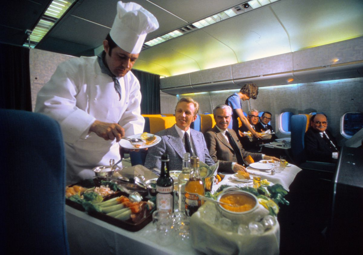 Scandinavian Airlines 1980 chef