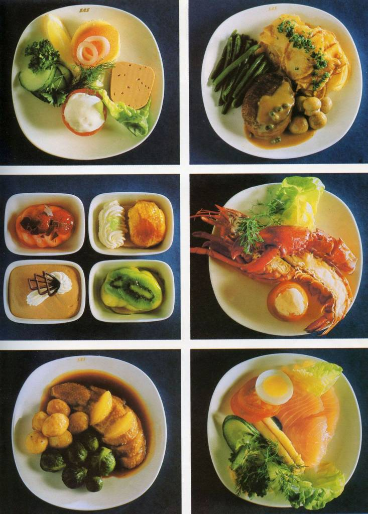 Scandinavian Airlines 1983 first class