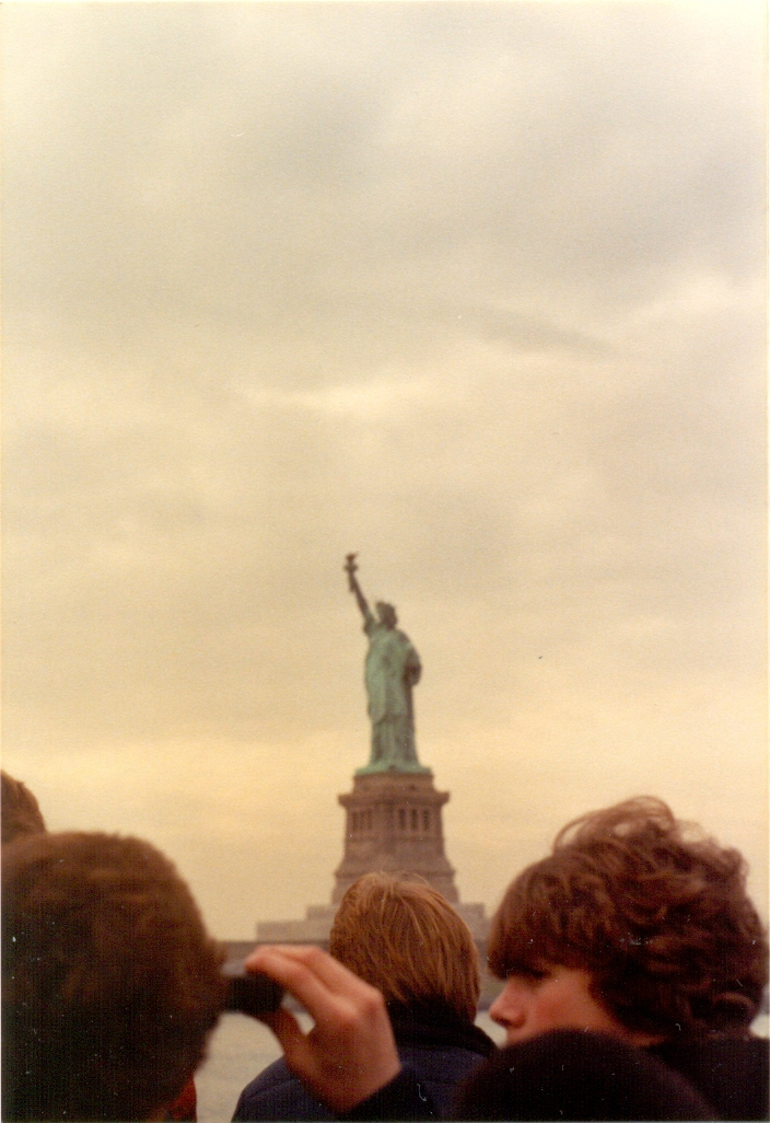 I took this photograph from the ferry to Liberty Island. It was the first time that I had seen the Statue of Liberty and I was awe-struck. I just couldn't stop taking photos of it and by the time I reached the island I didn't have many shots left on my 36 exposure film.