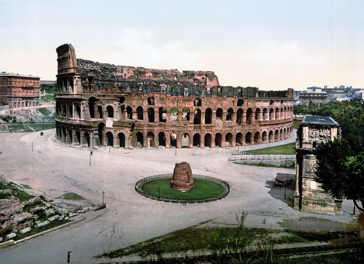 The Coliseum and Meta Sudans.