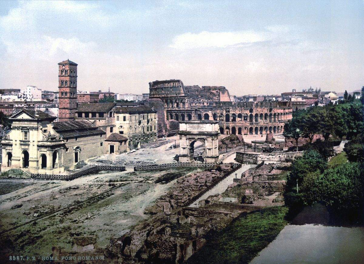 The Forum Romanum from the Palatine Rome