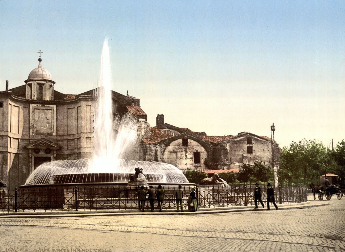 The Fountain of the Naiads in Piazza della Repubblica