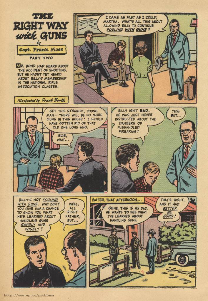 The Right Way With Guns National Rifle Association comic NRA 1956