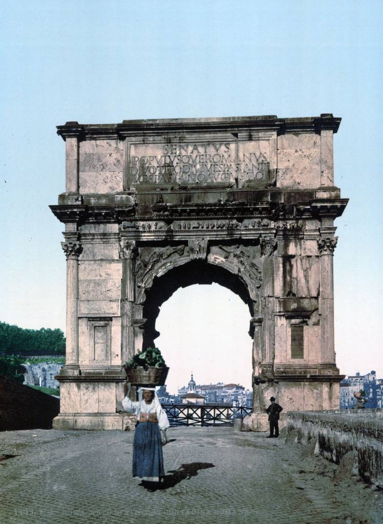 The Triumphal Arch of Titus Rome autochrome