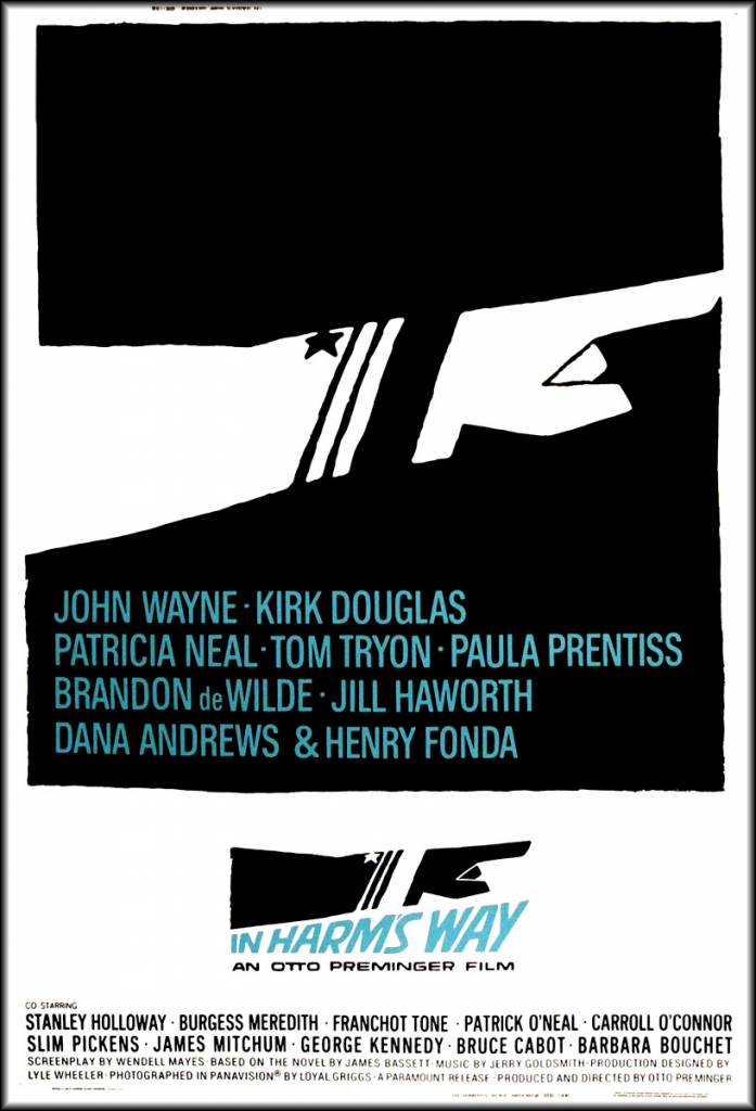 in harms way poster saul bass