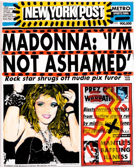 So What Keith Haring And Andy Warhols Tribute To Madonnas Nude Pix - Flashbak-2113