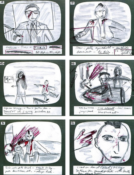 taxis driver storyboards martin scorsese