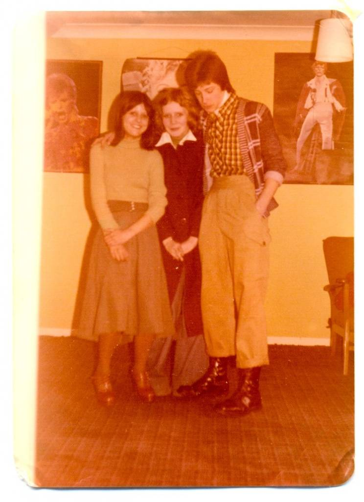 I took this photograph in February 1976. On the left is my sister Debbie, in the middle is her friend Janet and on the right is my friend Chris, who is dressed in freshly polished Dr Marten boots and a Ben Sherman shirt.