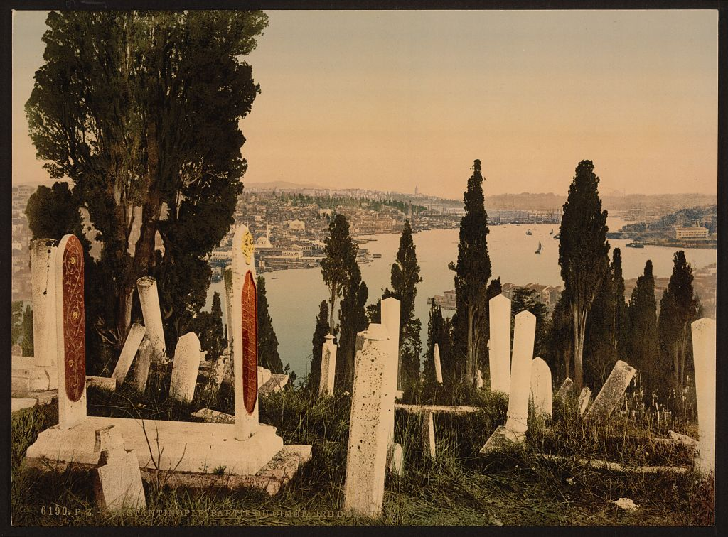 A part of the Eyoub (i.e., Uyüp) cemetery, I, Constantinople, Turkey