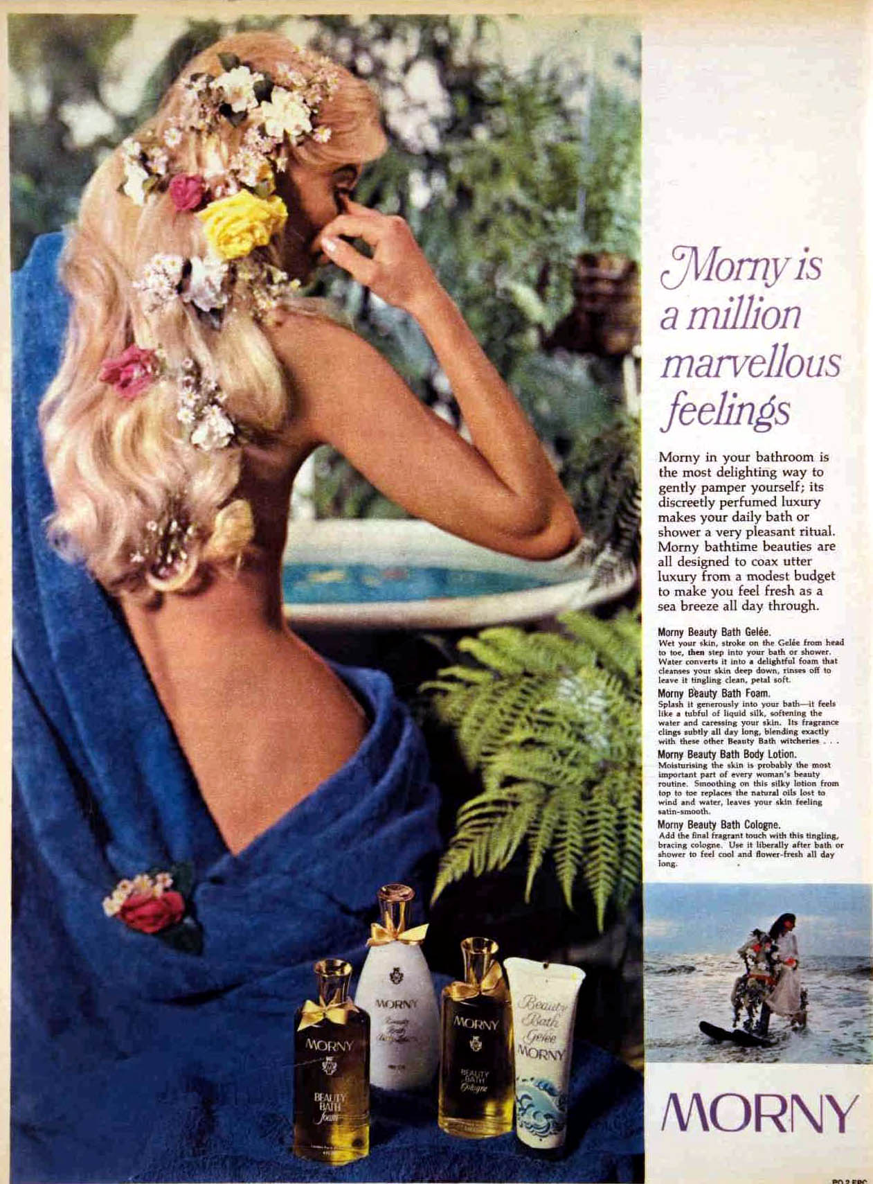 1968 bath perfume vintage advert