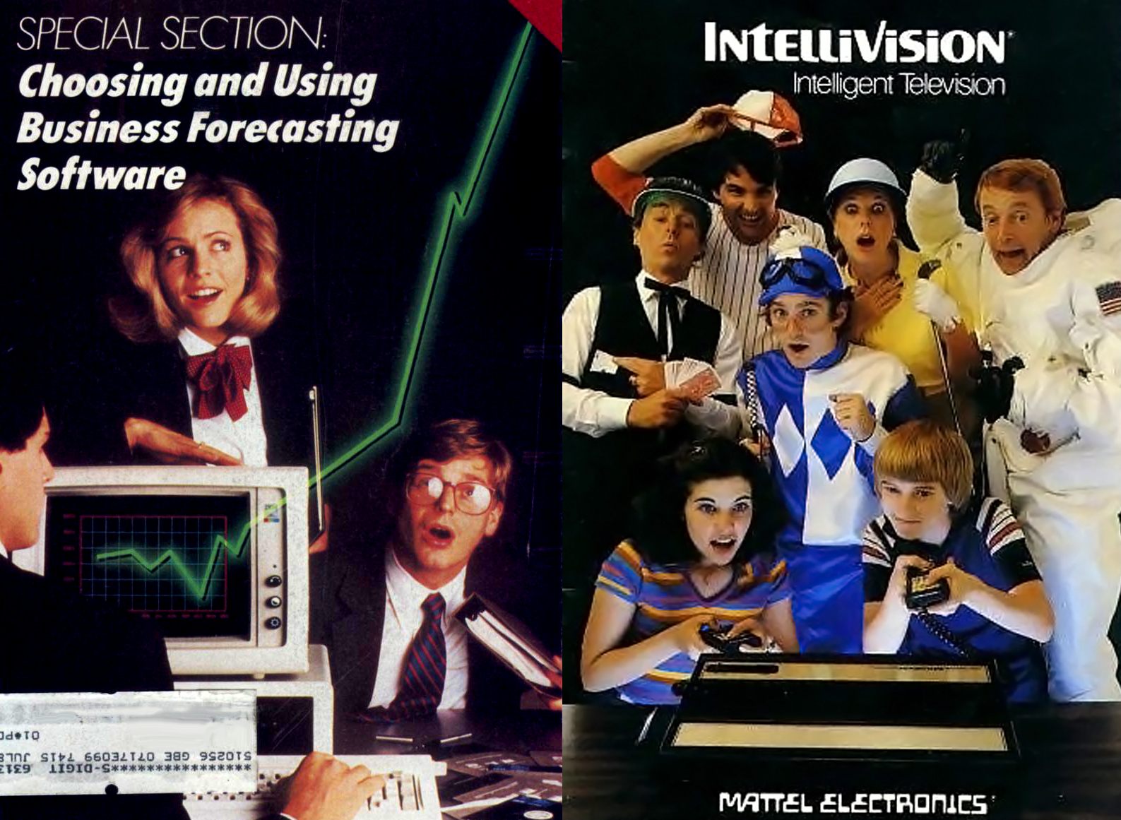 (Left) Creative Computing magazine - Jan. 1985, (Right) Intellivision - 1982