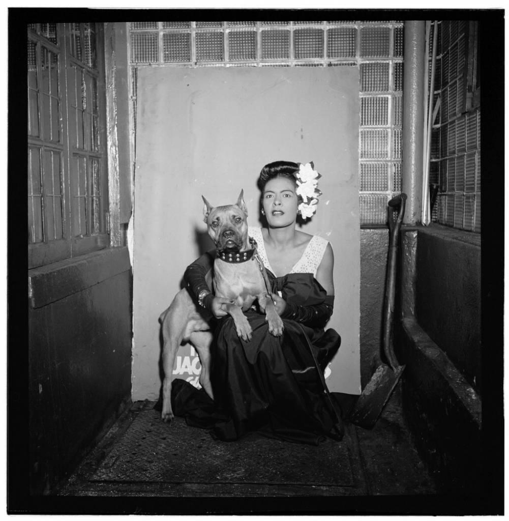 Portrait of Billie Holiday and Mister, Downbeat, New York, N.Y., ca. Feb. 1947