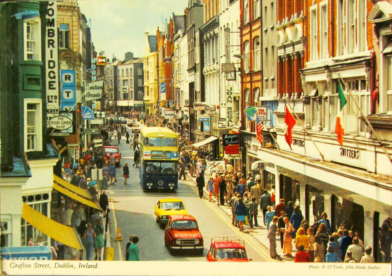 Grafton Street Dublin Ireland Photo By P. O'Toole John Hinde Studios