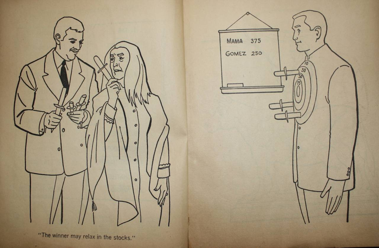 Addams Family Coloring Book 1970s