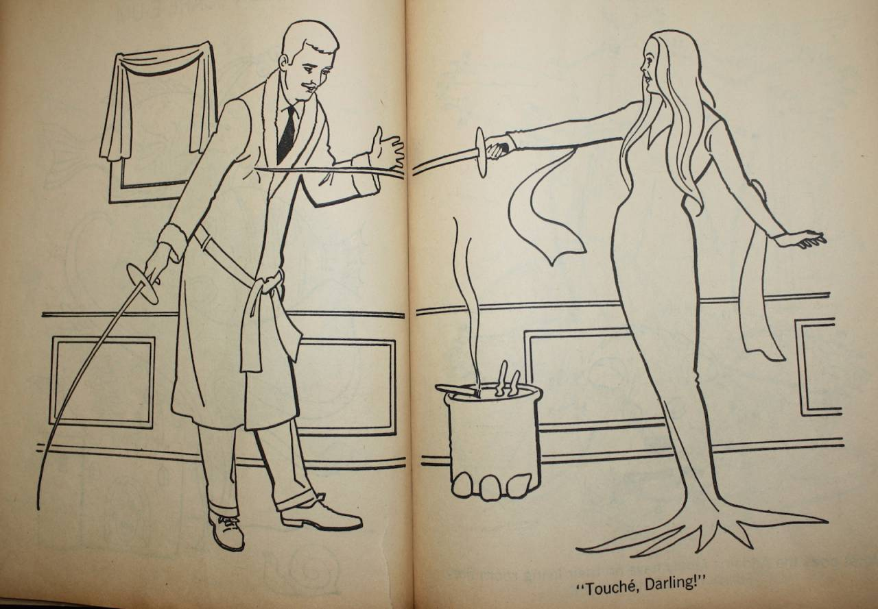 Addams Family Coloring Book-4 - Flashbak