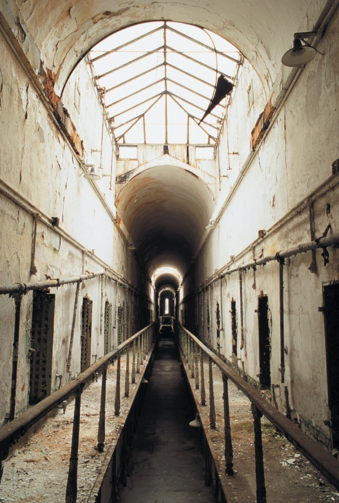 Cellblock 5 Gallery. When Eastern State Penitentiary opened in 1829, visitors from around the world marveled at its grand architecture and radical philosophy. With its high arched cathedral and over 1,000 skylights, the building feels more like a religious space, rather than a prison.