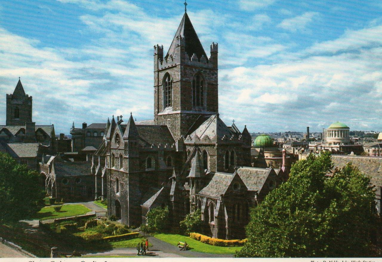 Christ Church Cathedral Postcard published by John Hinde Ltd, ca 1970s Photo by D. Noble, John Hinde Studios.