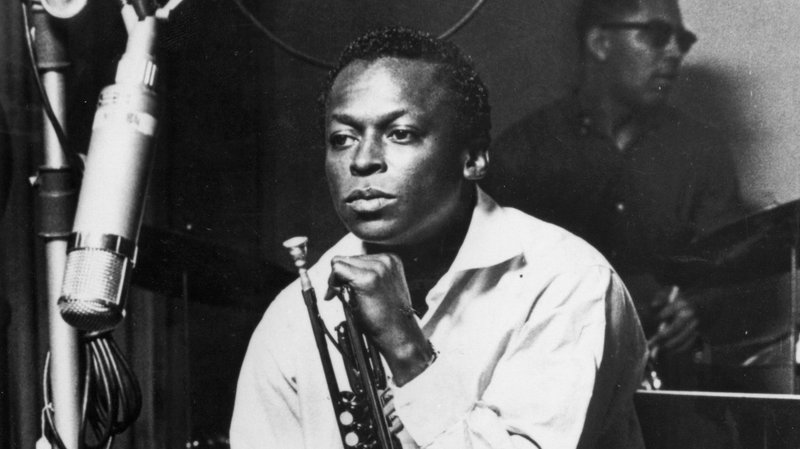 Miles Davis during a studio recording session, October 1959.