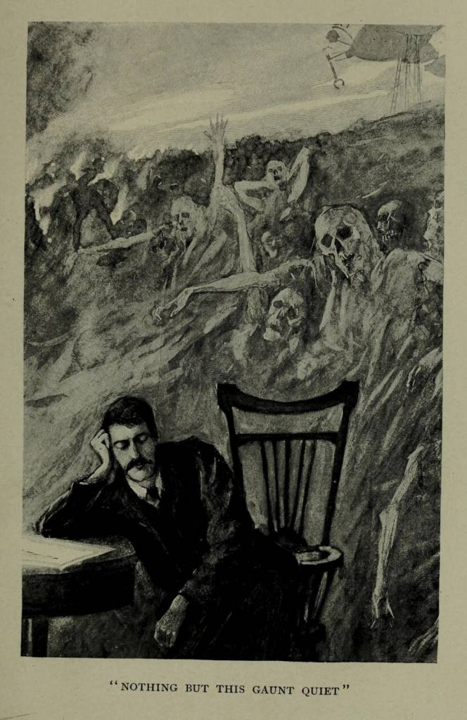 H.G. Wells' 1898 novel The War of the Worlds was first illustrated by Warwick Goble