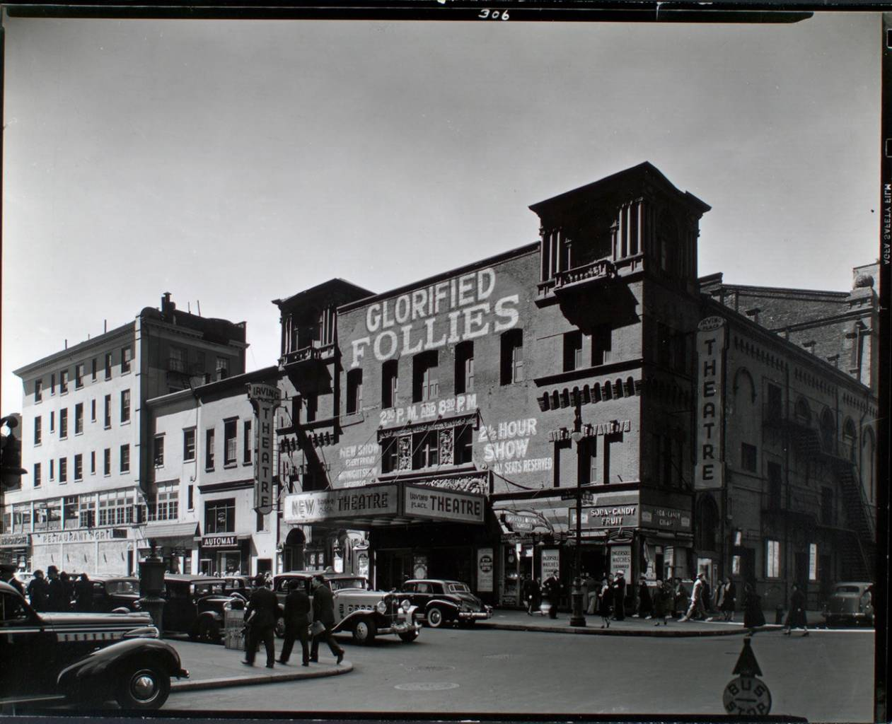 Irving Place Theatre, Irving Place, from Northeast corner of Irving Place and East 15th Street, Manhattan