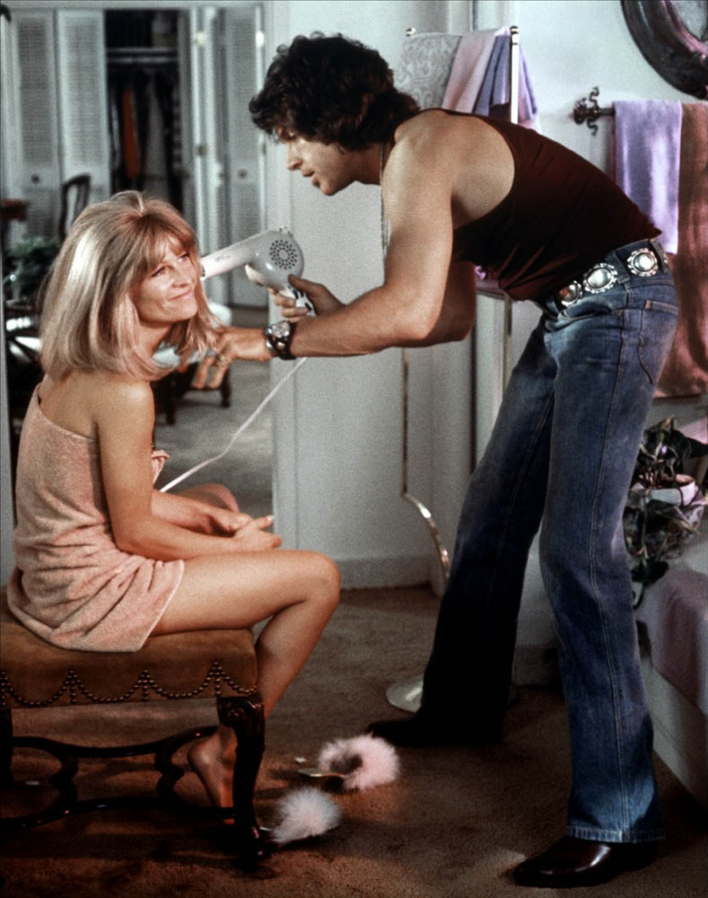 Julie Christie and Warren Beatty in Shampoo directed by Hal Ashby, 1975.