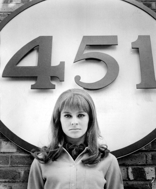 Julie Christie for Fahrenheit 451 directed by François Truffaut, 1966.