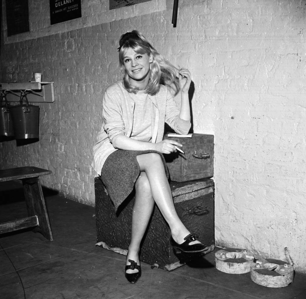 Portrait of actress Julie Christie smoking a cigarette, 7th January 1964. (Photo by Albert McCabe/Express/Getty Images)