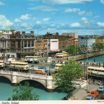 Glorious John Hinde postcards of Dublin c.1970.