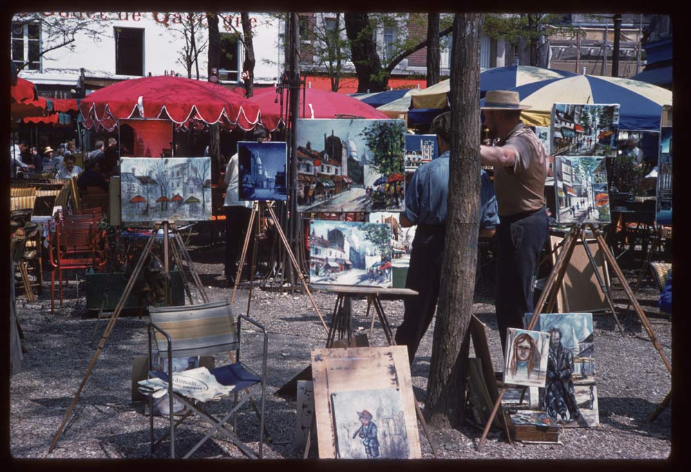 May 10, 1960. Place du Theatre Montmartre (below Sacre Coeur)
