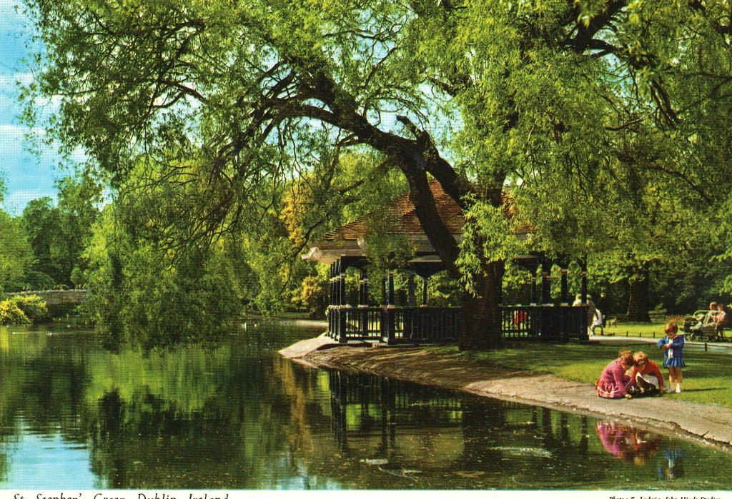 St. Stephen's Green Postcard published by John Hinde Ltd, ca 1970s