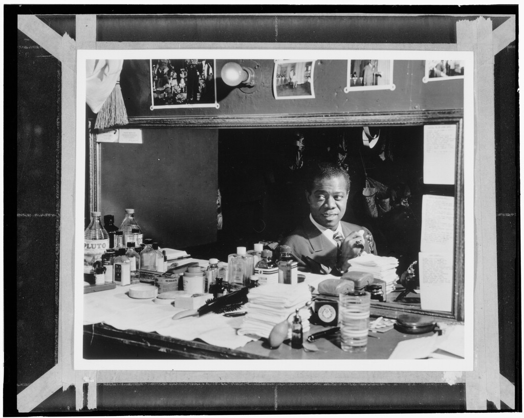 Portrait of Louis Armstrong, Aquarium, New York, N.Y., ca. July 1946