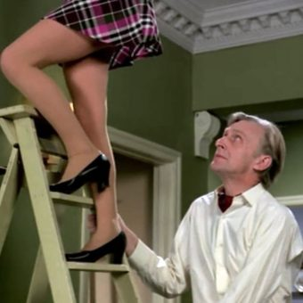 Don't Look Up! Cinema's Long Pervy Tradition of Ladies on Ladders