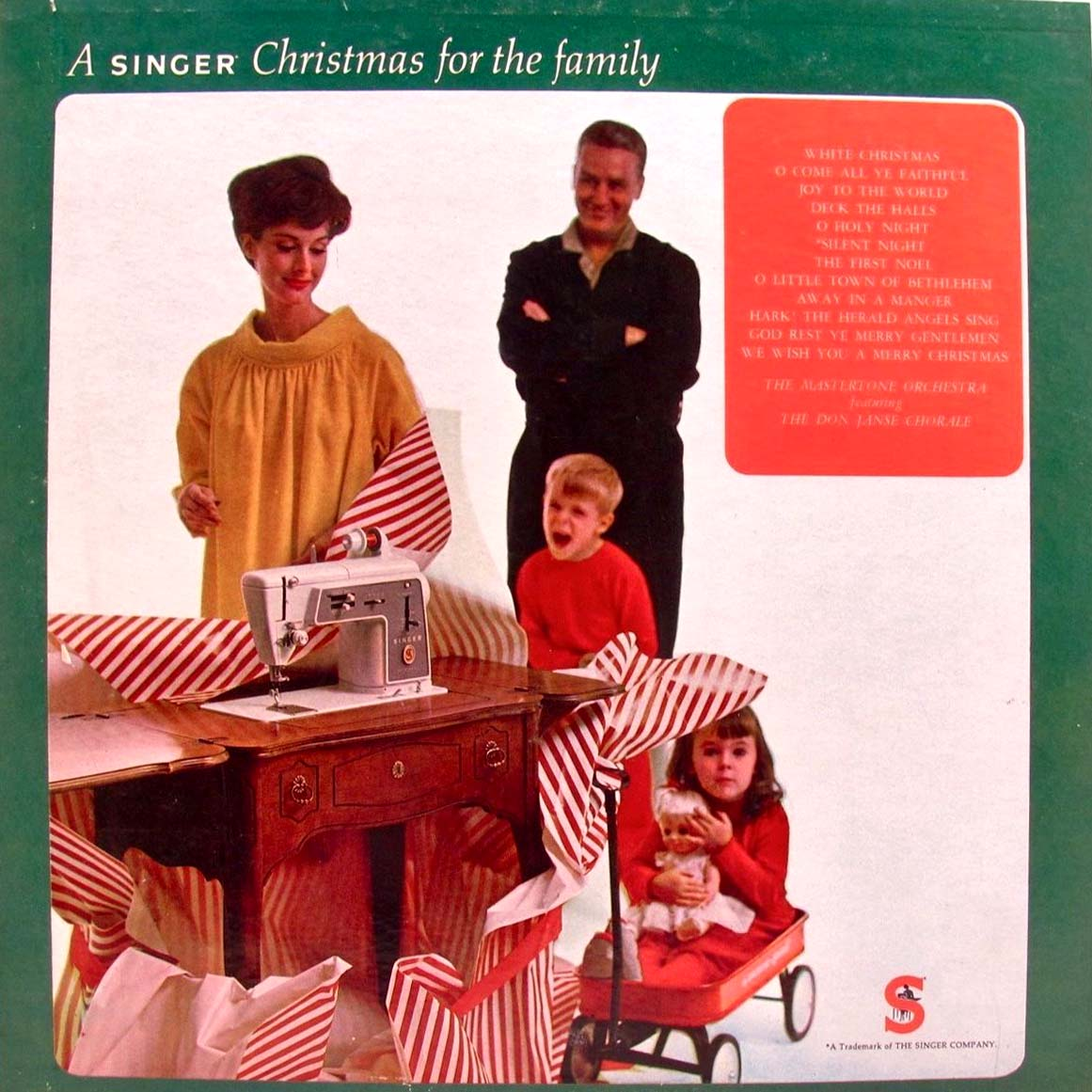singer sewing machine christmas record