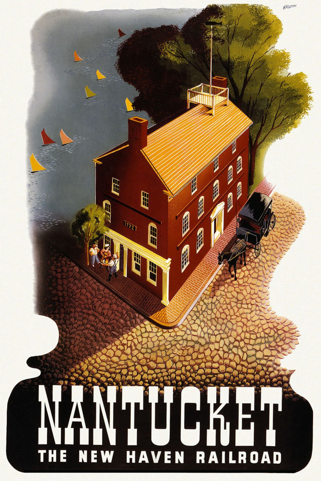 US, American travel poster