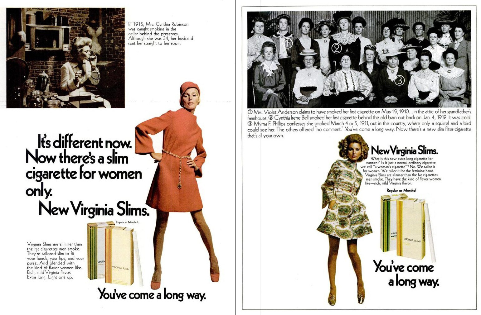 1968 virginia slims ad