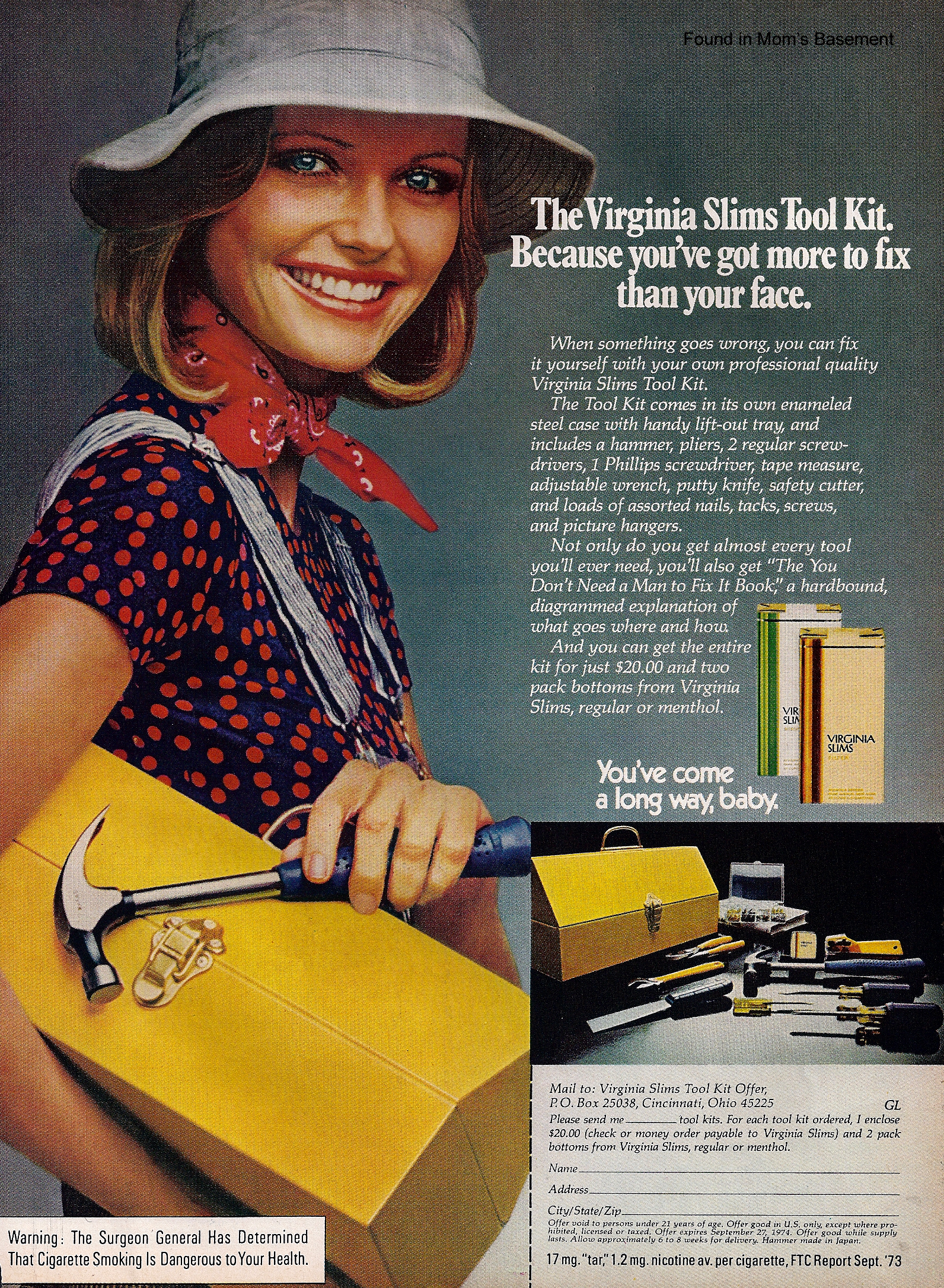 1974 virginia slims ad