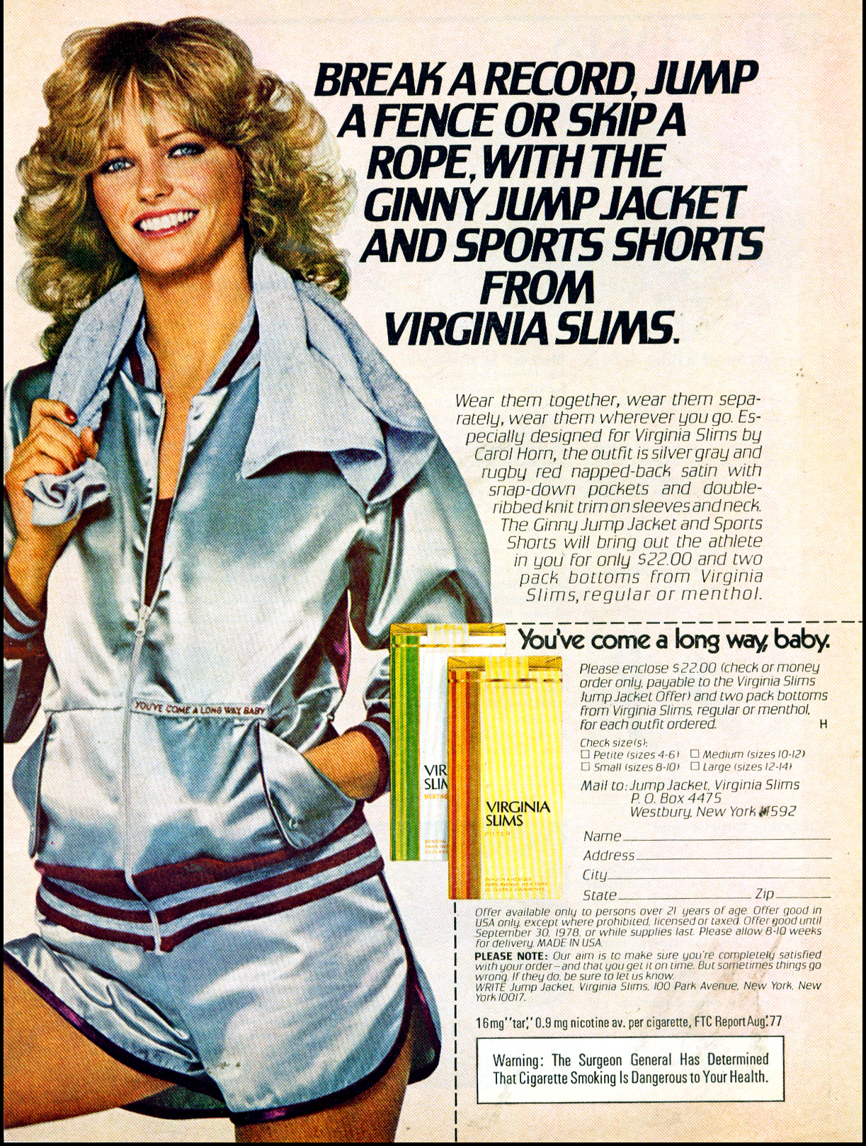 1977 virginia slims ad