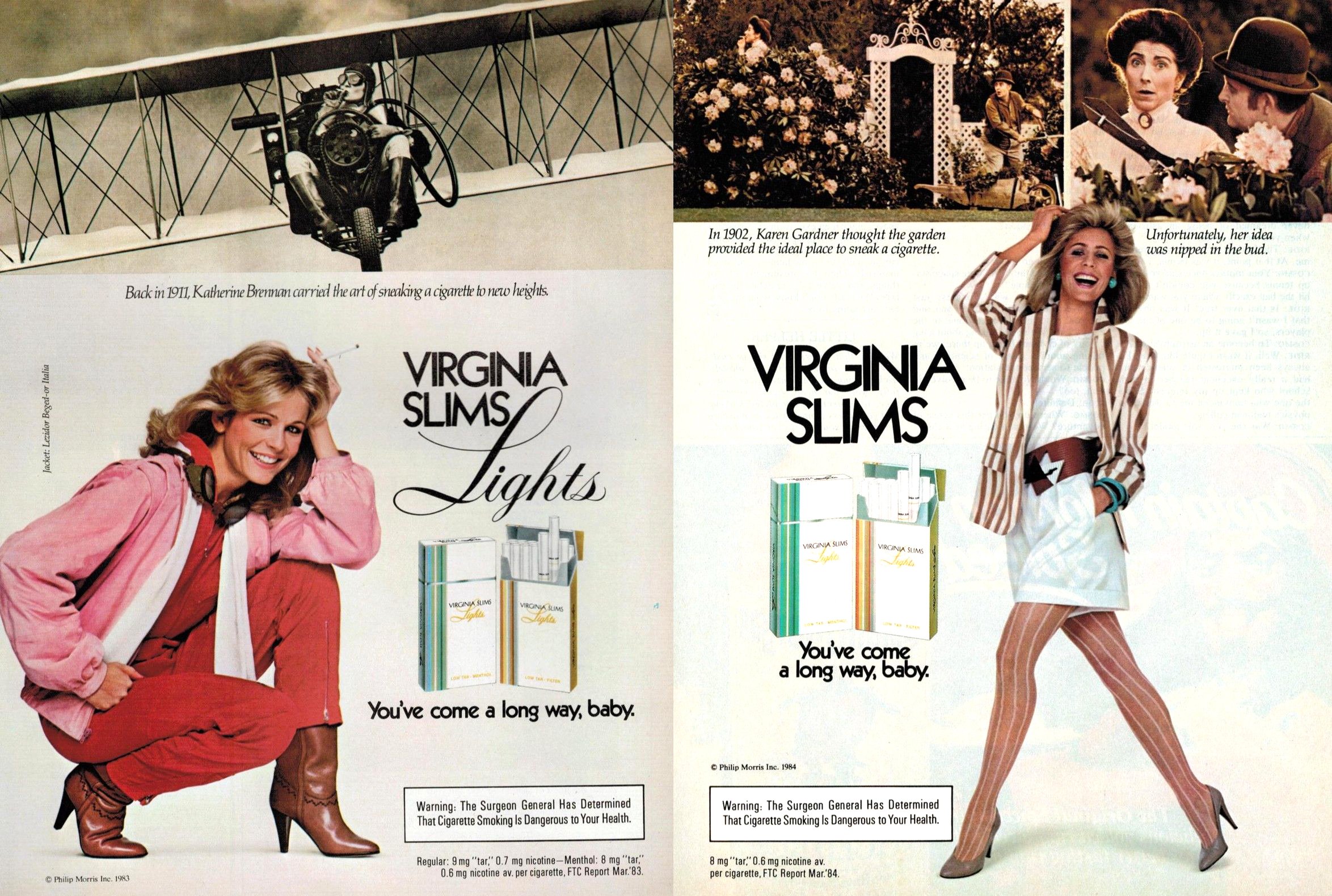 1984 virginia slims ad