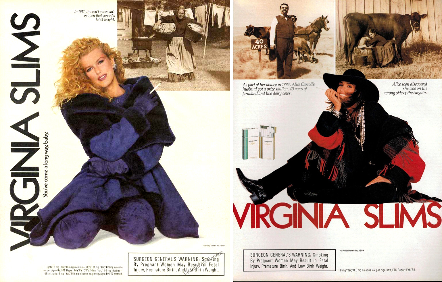 1989 virginia slims ad