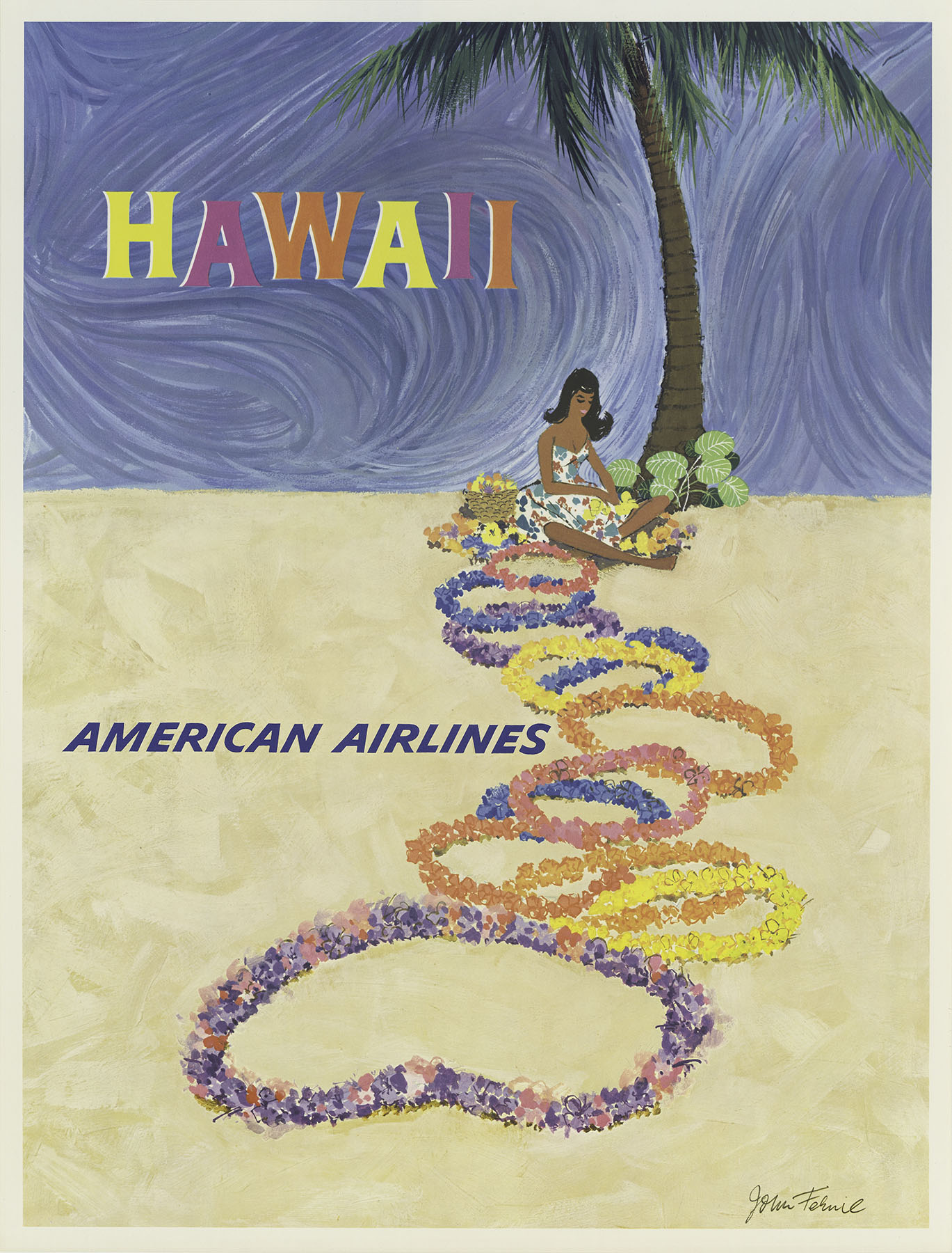 American Airline poster John Fernie in 1950s