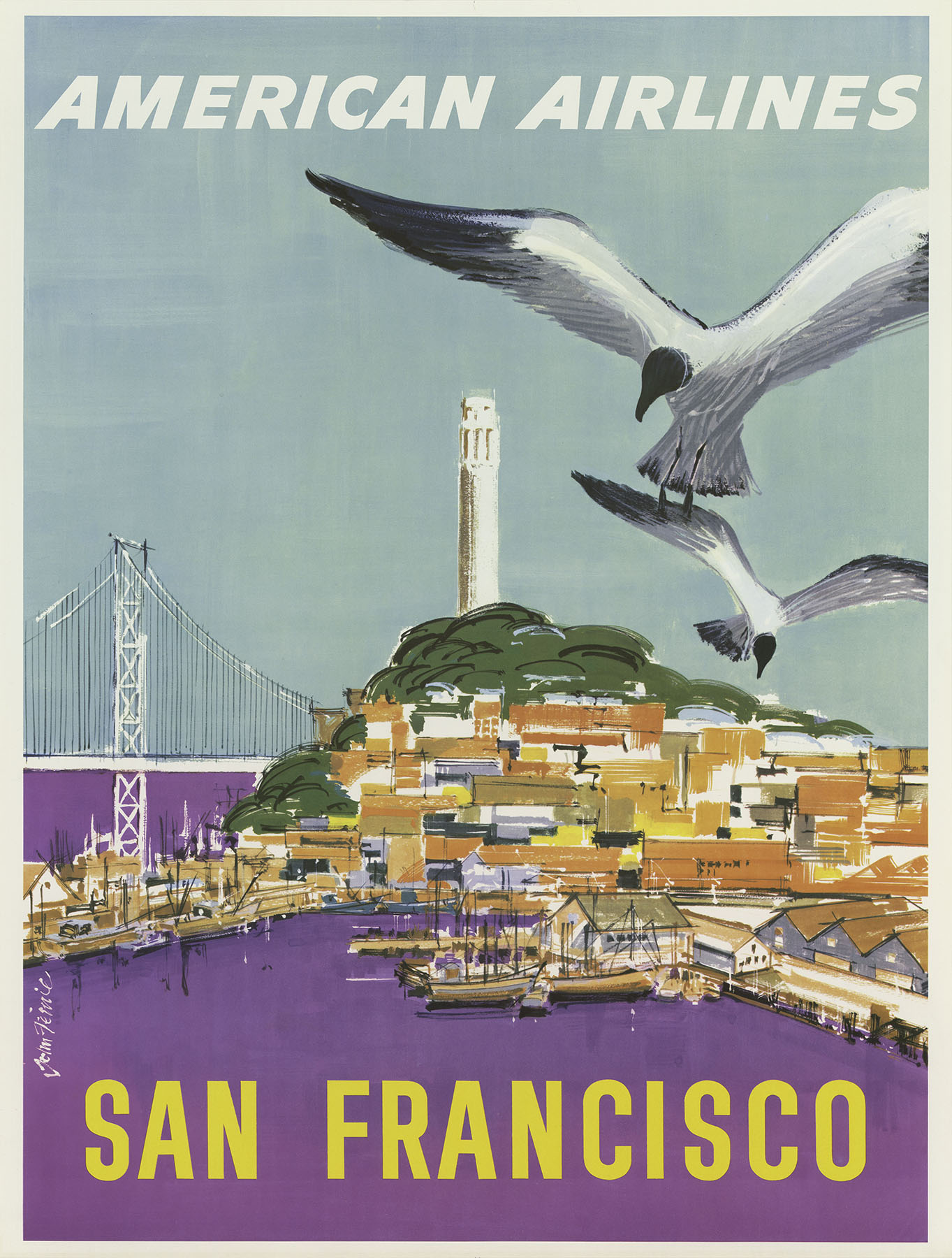 US American travel poster
