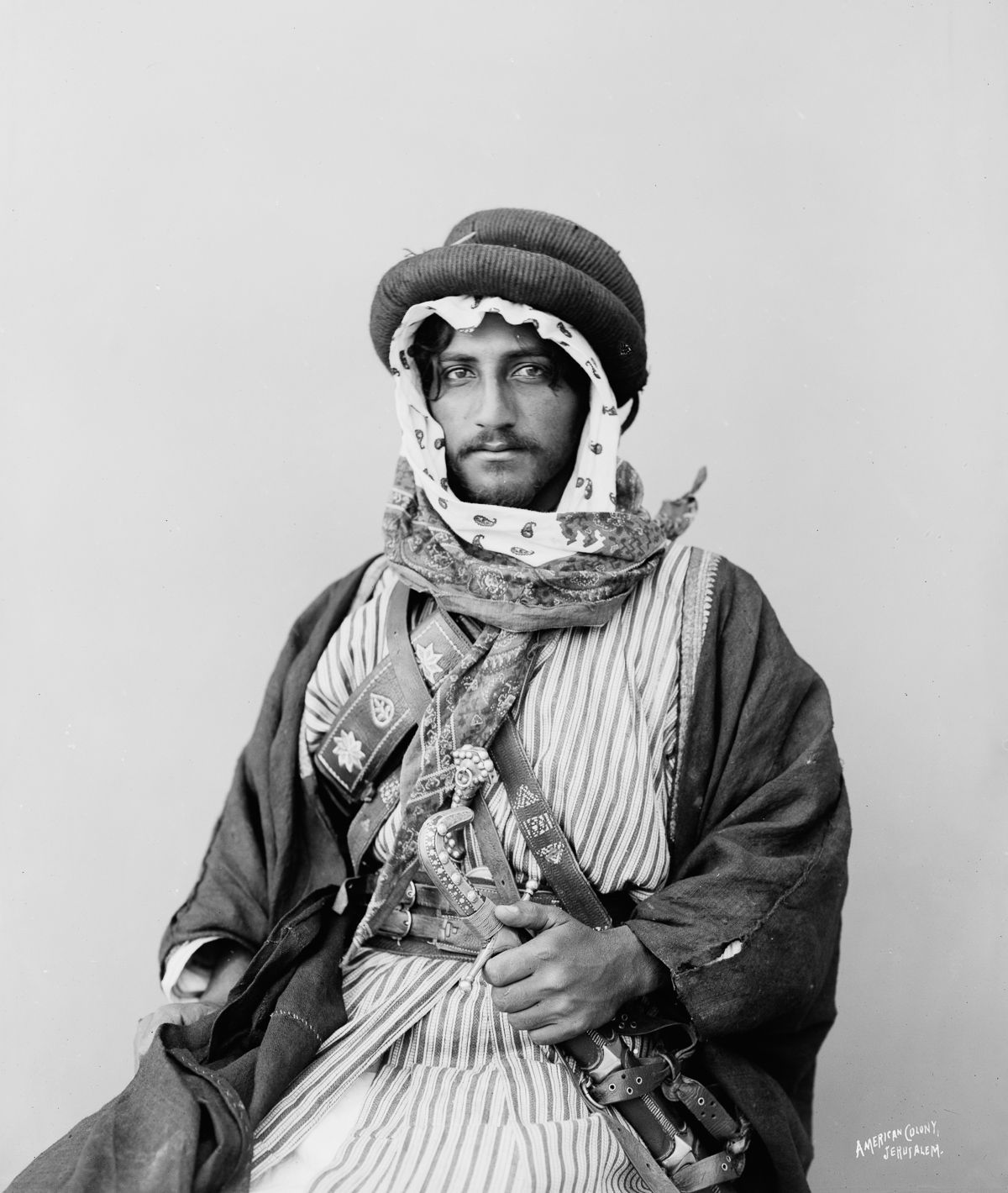 American Colony Photo Department, the Matson Photo Service, Bedouins 1898, Jerusalem, Palestine, Egypt