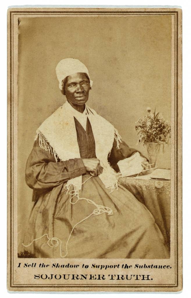 Carte de visite showing Sojourner Truth, c. 1880.
