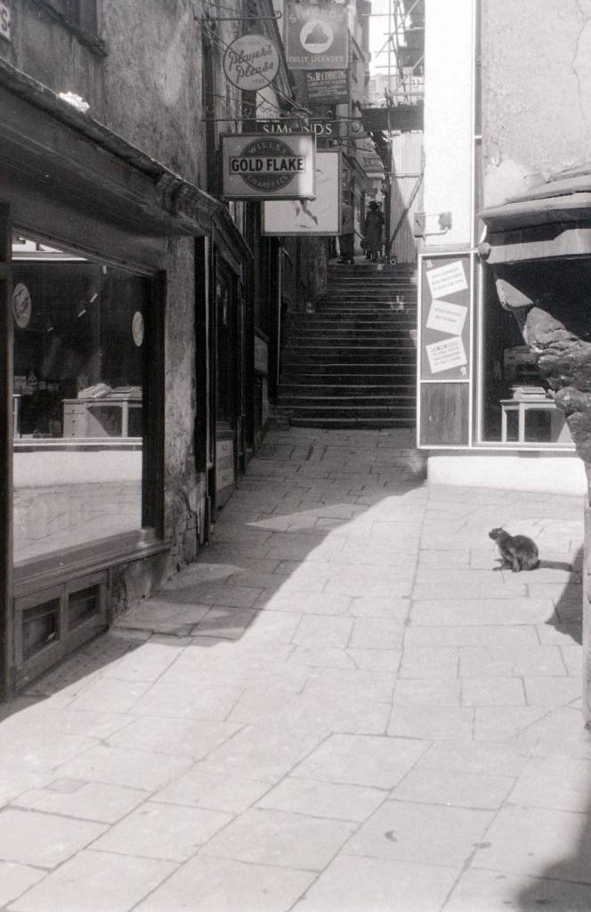 Christmas Steps, Bristol, 30 July 1958 cat