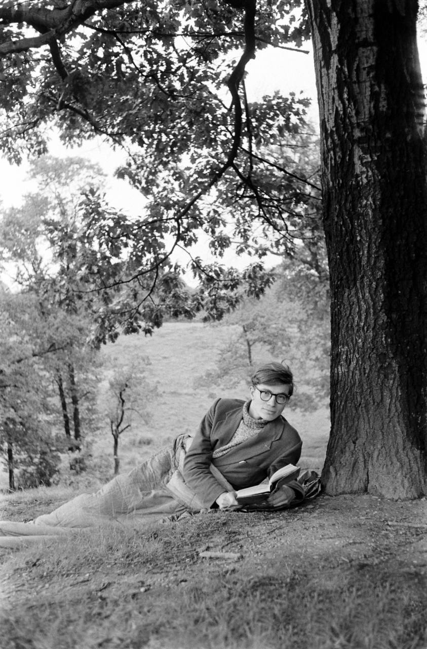 Colin Wilson in sleeping bag 1956