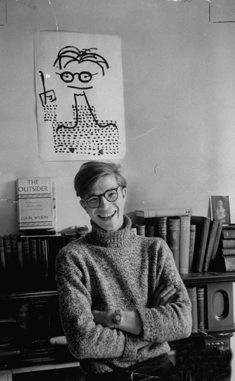 Colin Wilson in 1956 - the year that The Outsider was first published.