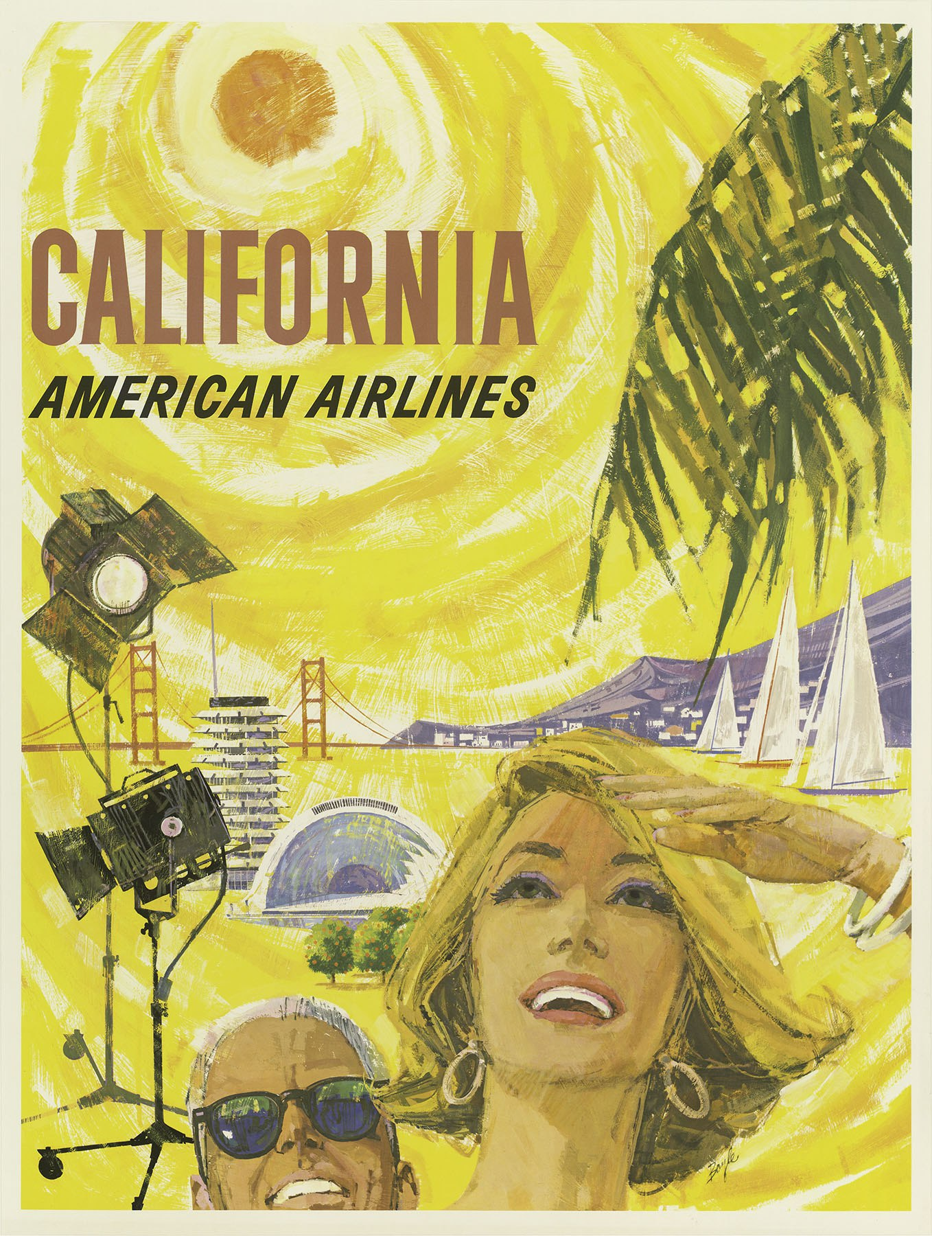 Designed By Boyle This Poster Was Published In  For The - Los angeles posters vintage