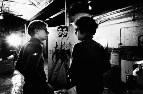 Dylan, Warhol and Elvis, photo by Factory photographer Nat Finkelstein