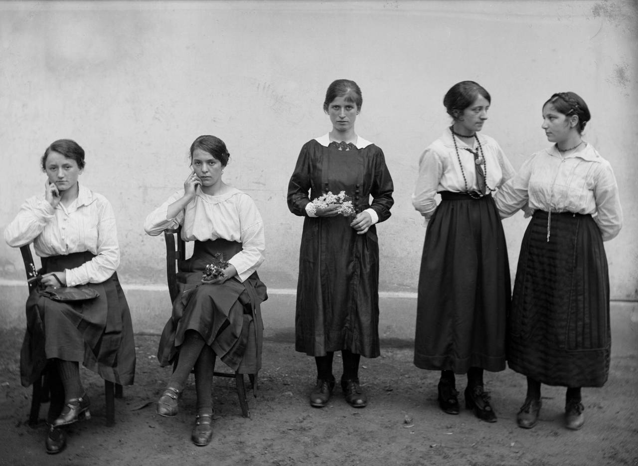 Female Workers in Front of the Chocolate Factory Cima-Norma, Dangio-Torre